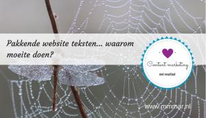 Pakkende website teksten… waarom moeite doen?